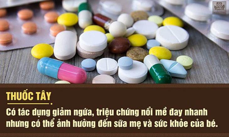 Thận trọng khi sử dụng thuốc Tây chữa nổi mề đay sau sinh