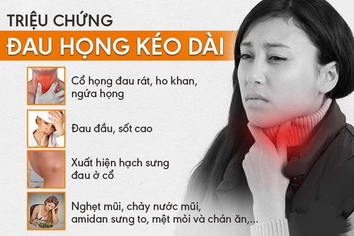 Triệu chứng viêm họng kéo dài