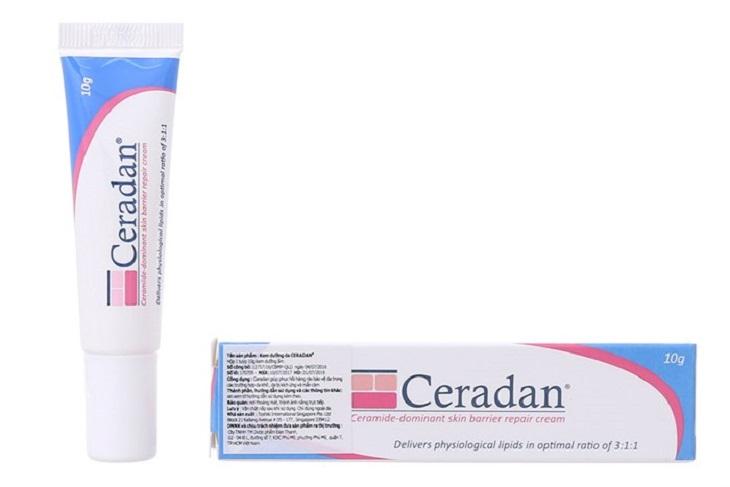 Kem dưỡng ẩm Ceradan được khuyên dùng cho trẻ khi bị chàm sữa