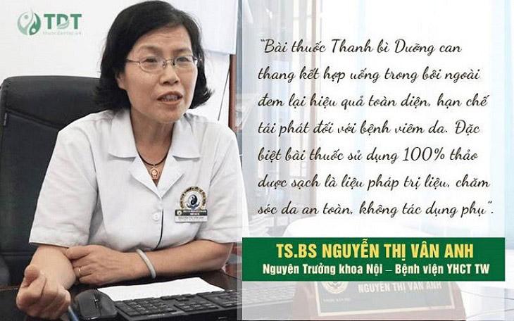Nhận xét của TS.BS Nguyễn Thị Vân Anh về Thanh bì dưỡng can thang