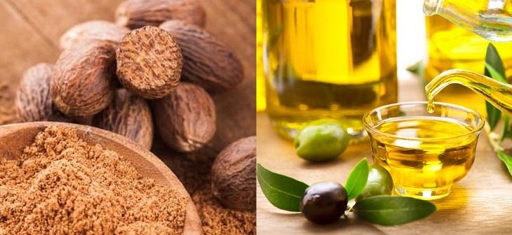 Trị eczema bằng hạt nhục đậu kết hợp với dầu oliu giúp điều trị hiệu quả và phục hồi da hư tổn nhanh chóng