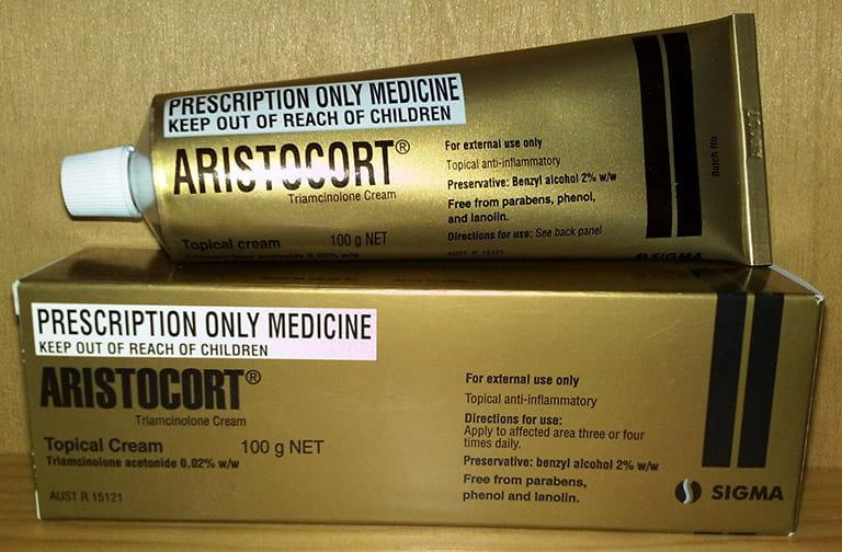 Thuốc bôi viêm da dị ứng Aristocort triamcinolone cream