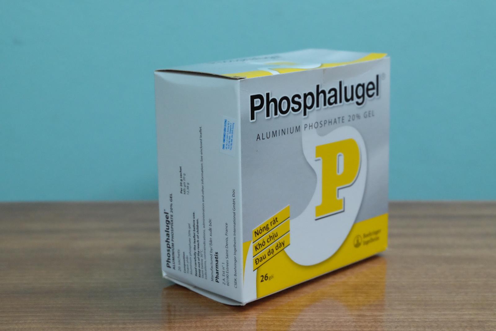 Thuốc Phosphalugel ở dạng lỏng, thích hợp điều trị cho dạ dày bị viêm loét