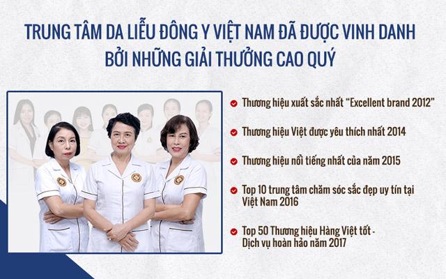 Trung tâm Da liễu Đông y Việt Nam là đơn vị uy tín hàng đầu trong điều trị, chăm sóc da bằng YHCT