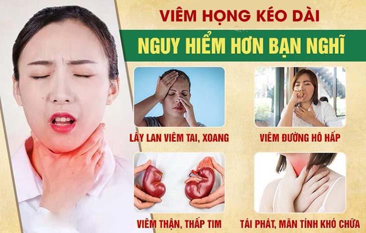 Biến chứng viêm họng kéo dài
