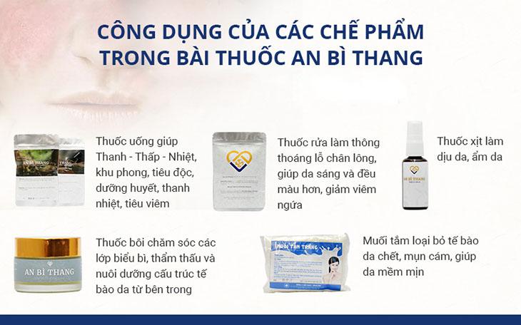 Bài thuốc An Bì Thang trị viêm nang lông hiệu quả với nhiều chế phẩm kết hợp