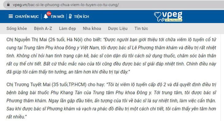 """Bác sĩ Lê Phương rất """"mát tay"""" trong điều trị các bệnh lý phụ khoa"""