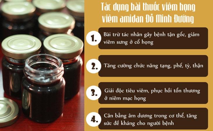 Hiệu quả bài thuốc chữa viêm amidan của Đỗ Minh Đường