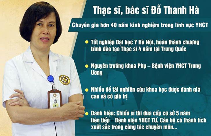Tại cơ sở Hà Nội, chị em được trực tiếp thăm khám bởi Thạc sĩ, bác sĩ Đỗ Thanh Hà - vị bác sĩ Đông y có kinh nghiệm gần 40 năm khám và điều trị bệnh phụ nữ