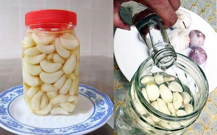 Việc kết hợp tỏi với giấm sẽ khiến công dụng điều trị viêm họng được tăng lên gấp đôi
