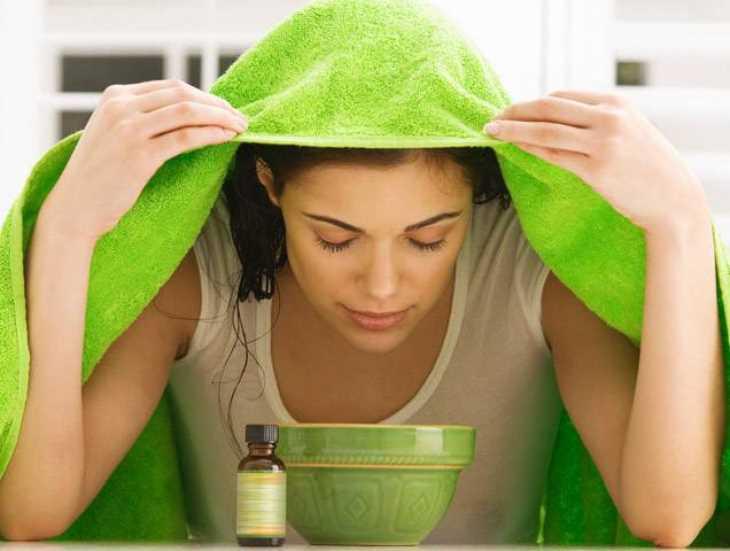 Xông hơi cũng là một trong những cách chữa viêm họng có đờm hiệu quả