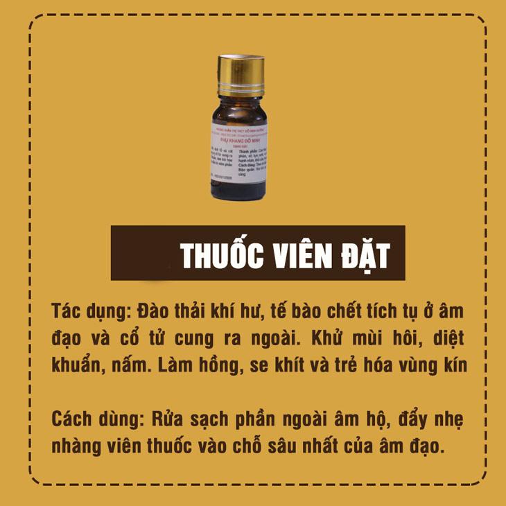 Tác dụng và cách dùng thuốc đặt Phụ Khang Đỗ Minh