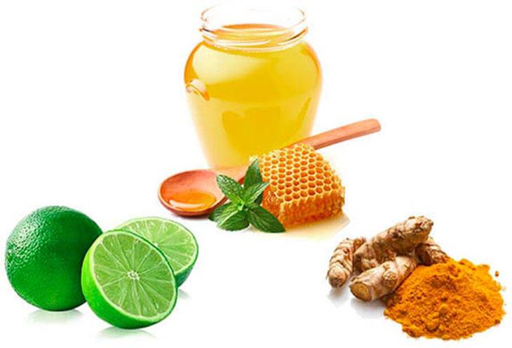 Kết hợp nghệ tươi, mật ong và chanh để trị mụn hiệu quả