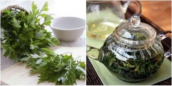 Ngải cứu khô hãm trà uống hàng ngày giúp trị chứng rong kinh