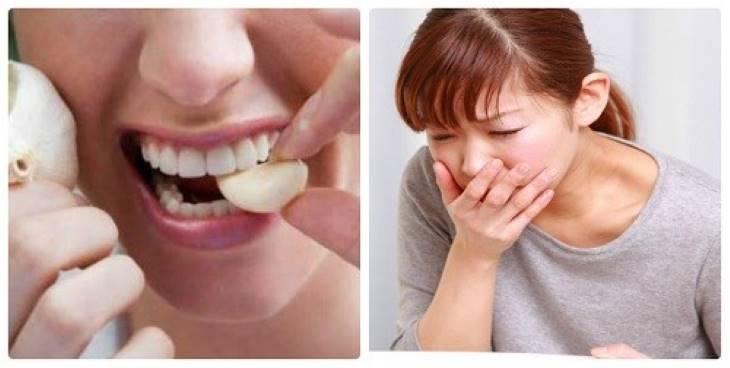 Sử dụng cách chữa viêm họng bằng tỏi sống nhiều có thể gây buồn nôn