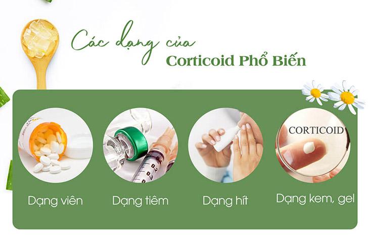 Corticoid được bào chế thành nhiều loại khác nhau