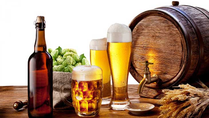 Bia cũng là nguyên liệu trị mụn bọc rất hiệu quả