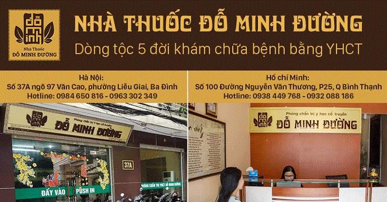 Địa chỉ liên hệ nhà thuốc Đỗ Minh Đường