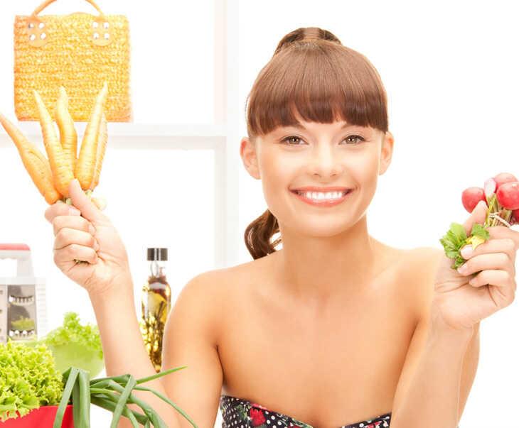 Ăn nhiều rau xanh và trái cây tốt cho người sau đốt mụn thịt