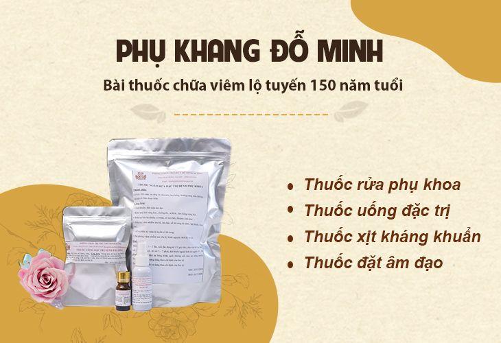 Bài thuốc chữa viêm lộ tuyến Phụ Khang Đỗ Minh