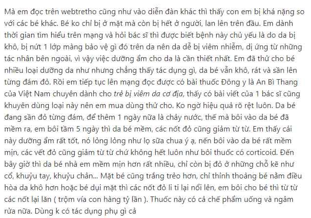 """An Bì Thang được người bệnh chia sẻ """"rần rần"""" trên Webtretho"""
