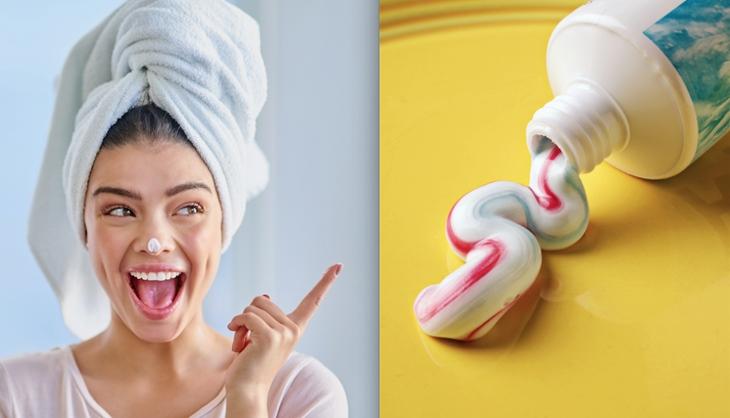Hãy thử một lượng nhỏ trước khi rửa mặt bằng kem đánh răng