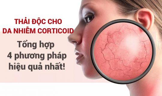 Thải độc da nhiễm corticoid