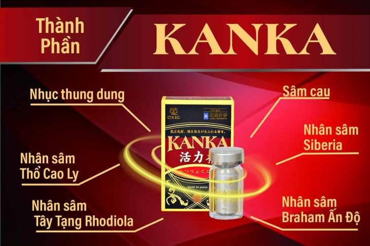 Kanka được chiết xuất từ 100% thảo dược tự nhiên, chủ yếu là các loại sâm quý hiếm