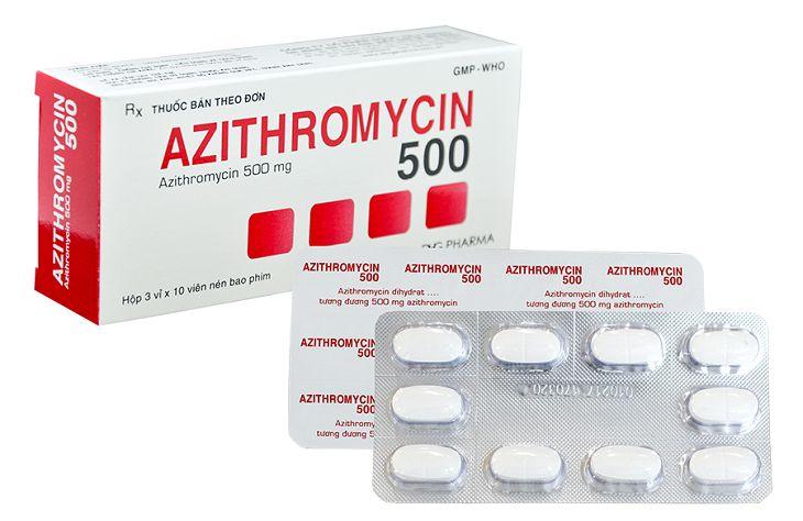 Thuốc Azithromycin là kháng sinh mạnh có thể tiêu diệt các vi khuẩn gây viêm nhiễm phụ khoa