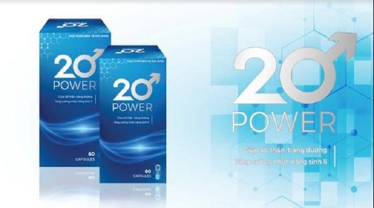 20 Power hỗ trợ điều trị tình trạng xuất tinh sớm hiệu quả