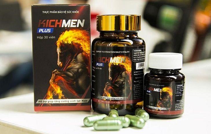 Thuốc trị xuất tinh sớm Kichmen Plus giúp quý ông kéo dài thời gian quan hệ