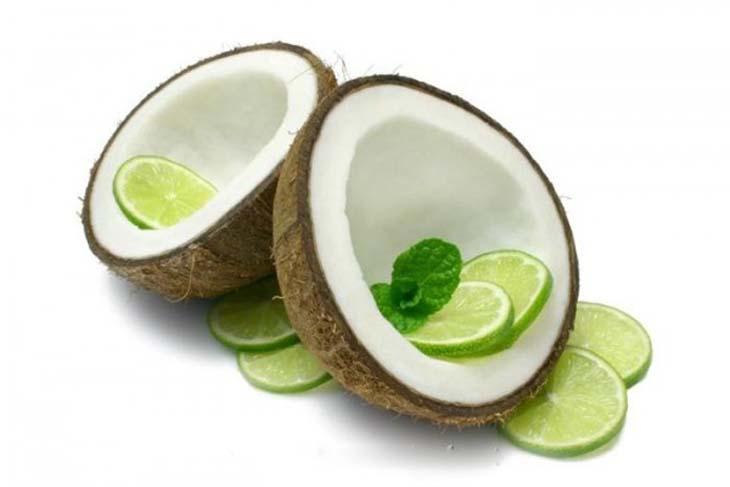 Trị viêm nang lông bằng dầu dừa và chanh khá hiệu quả