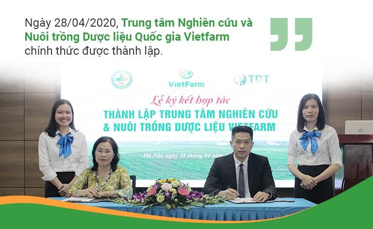 Trung tâm Nghiên cứu và Nuôi trồng dược liệu Vietfarm chính thức được thành lập ngày 28/4/2020