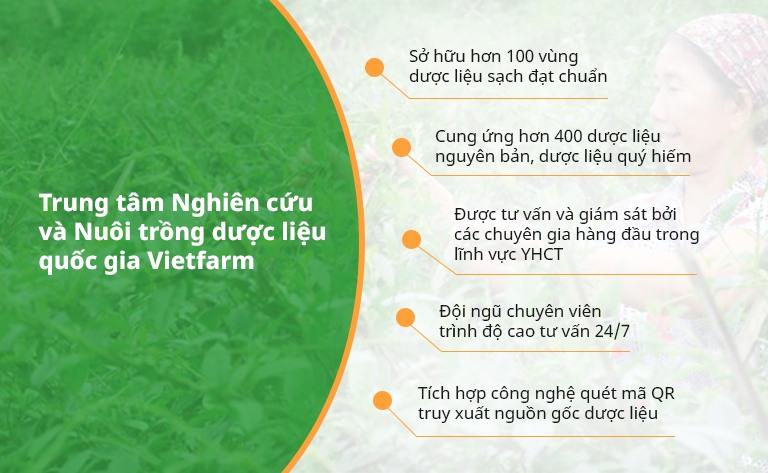 Vietfarm cam kết không ngừng nỗ lực để trở thành đơn vị cung ứng dược liệu hàng đầu Việt Nam