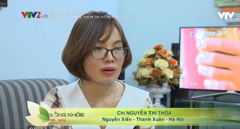 Chị Nguyễn Thị Thỏa thoát viêm da cơ địa 7 năm nhờ Thanh bì Dưỡng can thang