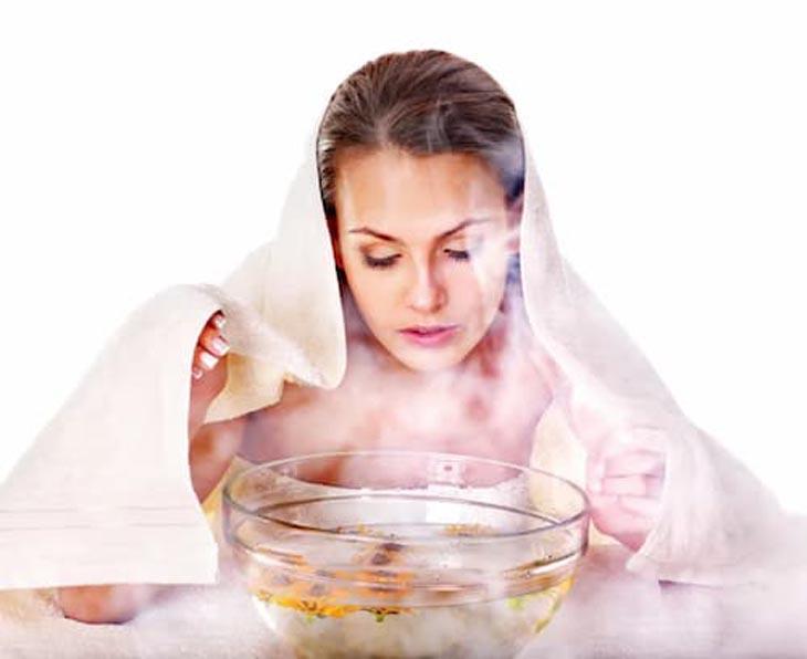 Xông mặt thải độc corticoid giúp da dần phục hồi, tái tạo lại