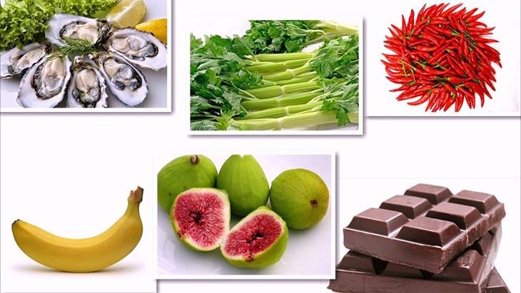 Nhóm thực phẩm có lợi sẽ hỗ trợ hiệu quả quá trình đẩy lùi yếu sinh lý