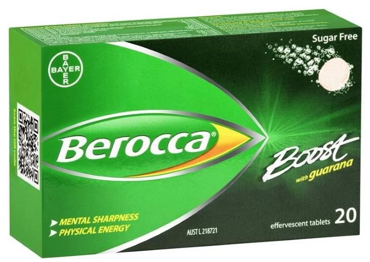 Berocca Boost cũng được điều chế dưới dạng viên sủi, mỗi tuýp 15 viên