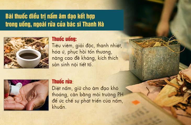 Kết hợp thuốc uống, thuốc ngâm rửa sẽ giúp điều trị nấm từ bên trong