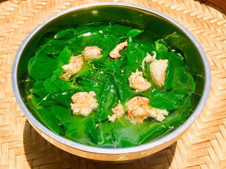 Canh rau ngót nấu với tôm khô sử dụng giúp nam giới lấy lại bản lĩnh
