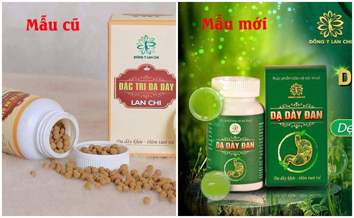 Mẫu cũ và mẫu mới của thuốc dạ dày Lan Chi
