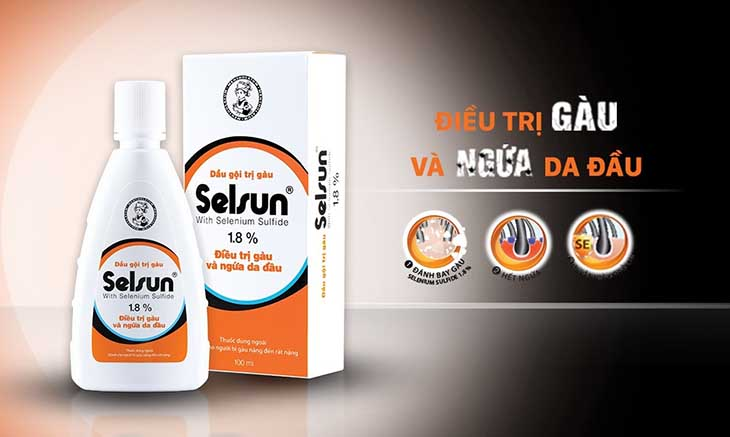 Dầu gội đầu Selsun giúp trị ngứa da đầu nhanh chóng và hiệu quả