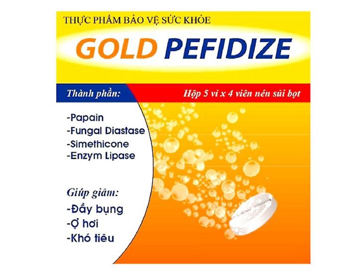 Gold Peffize có tác dụng cải thiện các triệu chứng liên quan đến rối loạn tiêu hóa