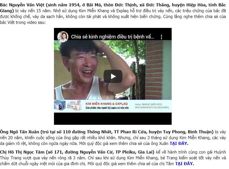 Kim Miễn Khang được nhiều người tin dùng