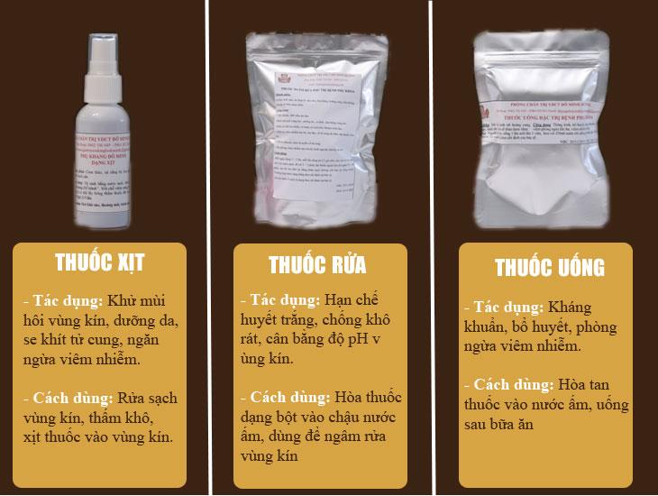 3 loại thuốc khác trong liệu trình bài thuốc Phụ Khang Đỗ Minh