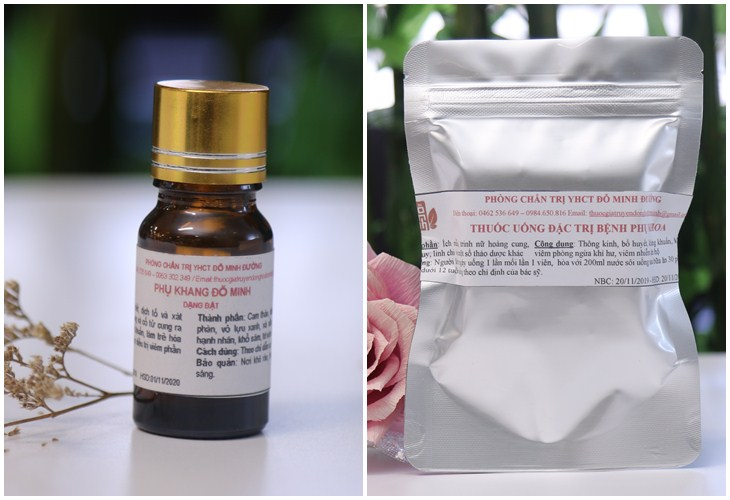Thuốc đặt và thuốc uống Phụ Khang Đỗ Minh
