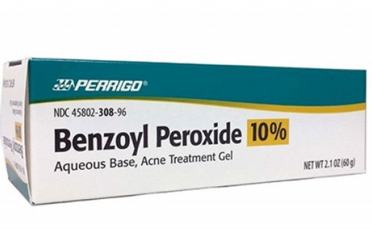 Thuốc trị mụn mủ Benzoyl Peroxide có tác dụng tiêu diệt và ngăn chặn sự lây lan của vi khuẩn P.acnes