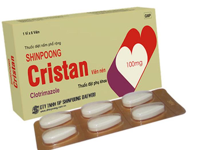 Cristan - Thuốc đặt - bôi âm đạo trị nấm Candida