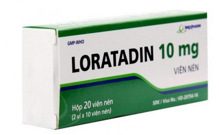 Thuốc chữa ngứa da mặt Loratadine 10mg