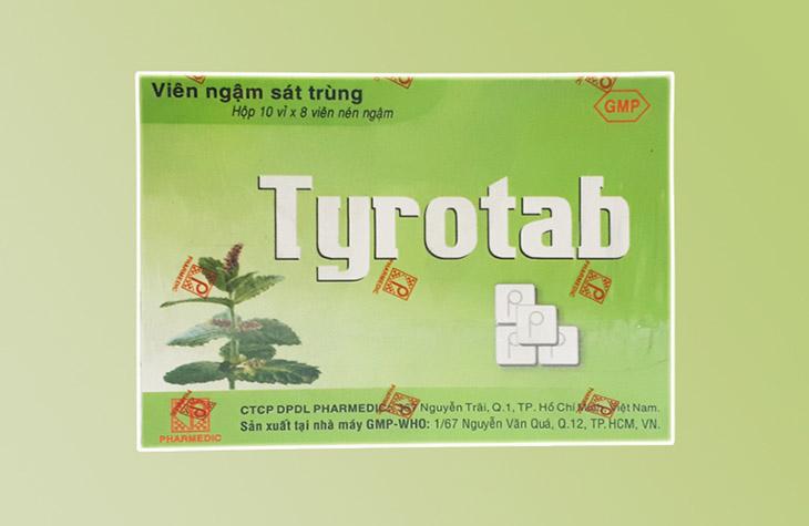 Viên ngậm trị viêm amidan Tyrotab